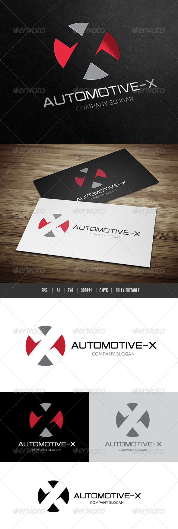 Automotive X - Letters Logo Templates