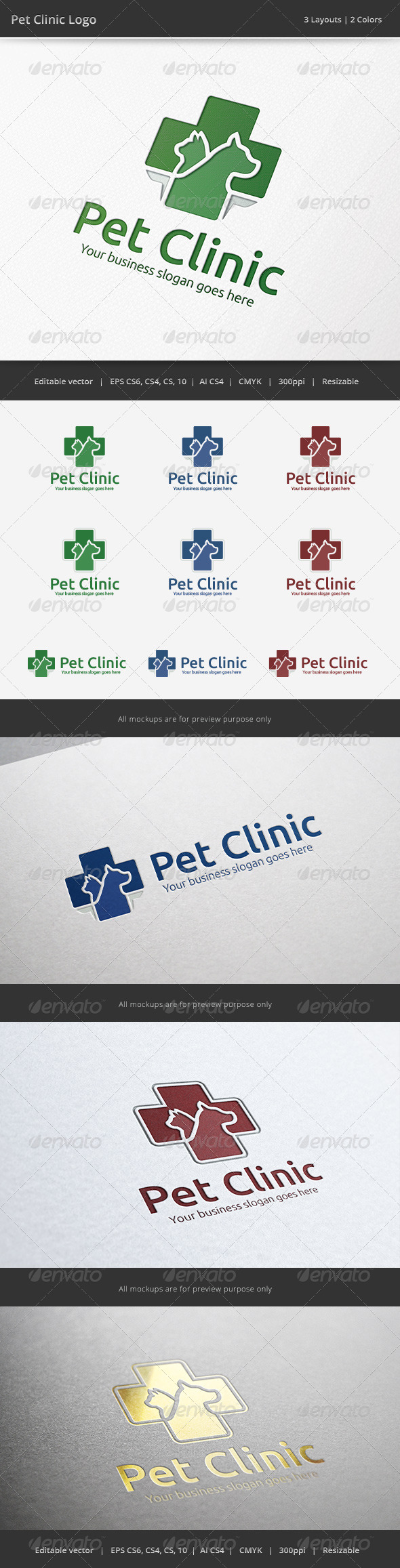 Pet Clinic Veterinary Logo - Animals Logo Templates