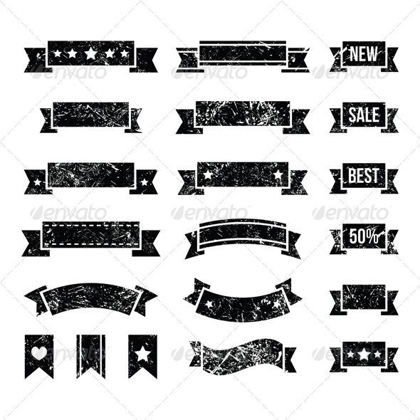 Retro Ribbons Vintage Bookmark Set - Decorative Symbols Decorative