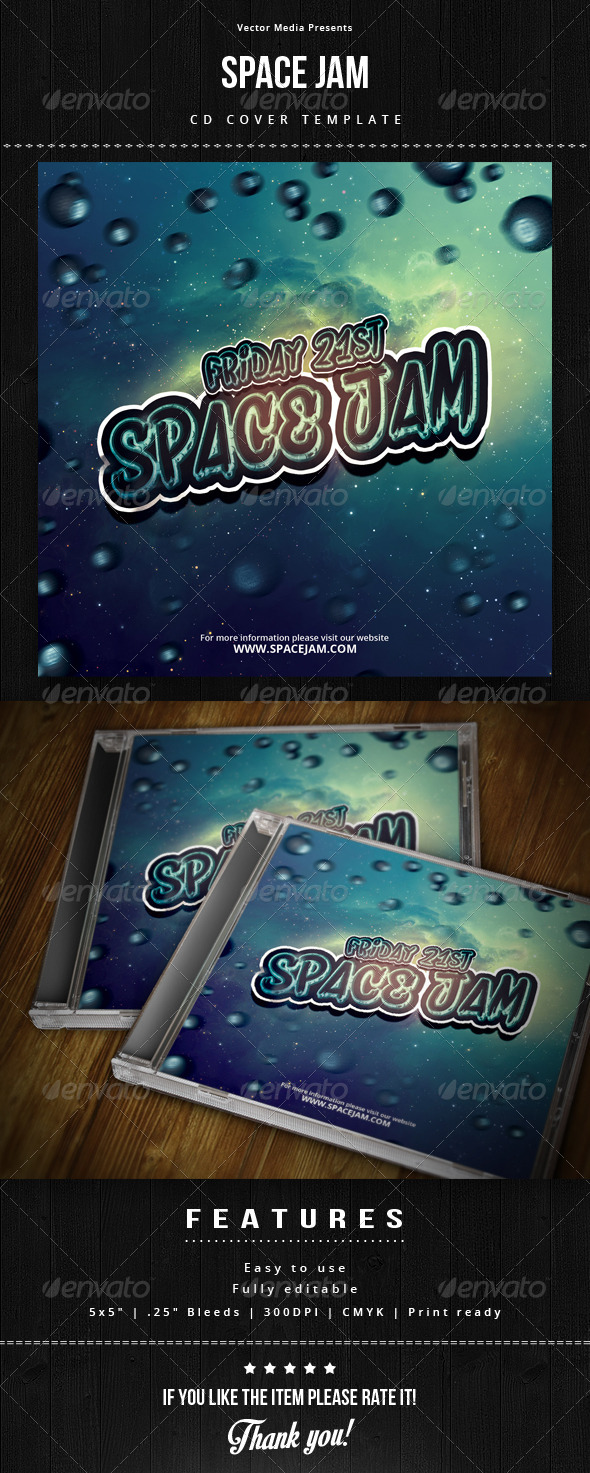 Space Jam - Cd Cover - CD & DVD Artwork Print Templates