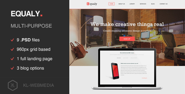 Equaly – Mutlipurpose PSD Template