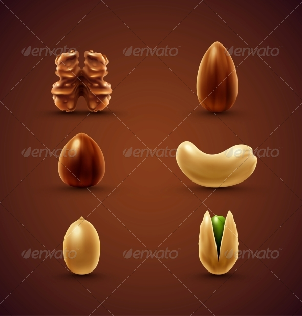 Set of Nuts - Food Objects