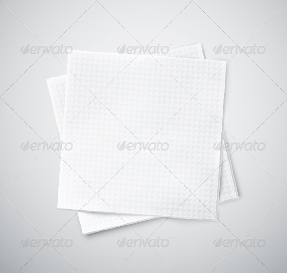 Two Napkins - Man-made Objects Objects