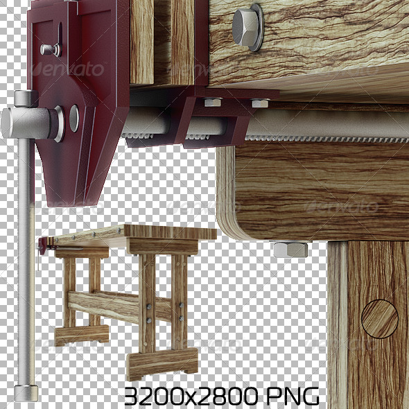 Woodworking Bench - Objects 3D Renders
