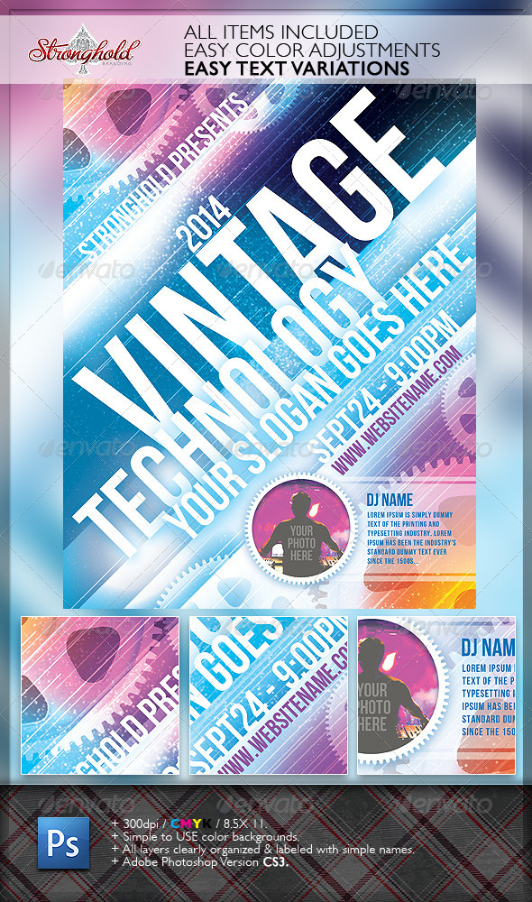 Vintage Technology Event Flyer Template - Events Flyers