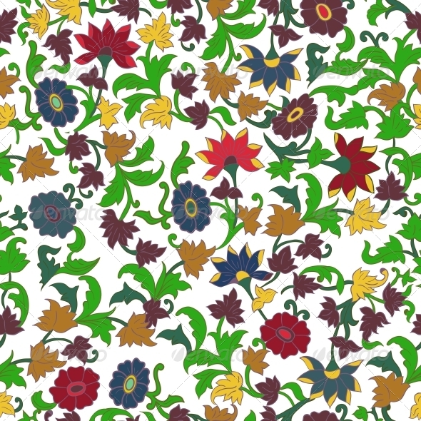 Texture in Islamic Floral Motif - Flowers & Plants Nature