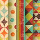 Set of Retro Geometric Seamless Backgrounds - GraphicRiver Item for Sale