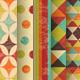Set of Retro Geometric Seamless Backgrounds - GraphicRiver Item for Sale