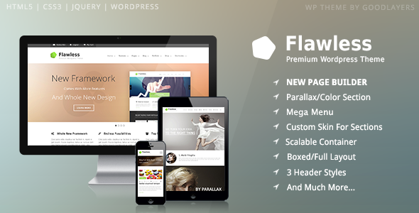 Flawless - Responsive Multi-Purpose WP Theme