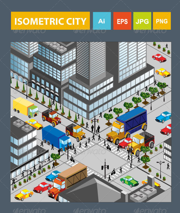 Isometric City - Buildings Objects
