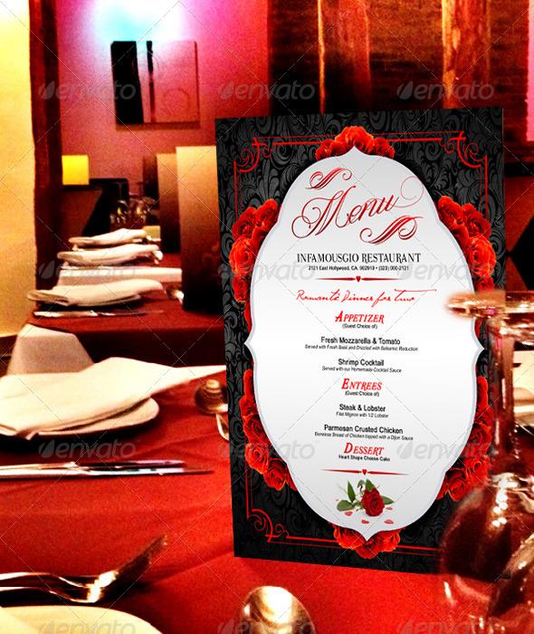 St Valentines Menu 3 - Restaurant Flyers