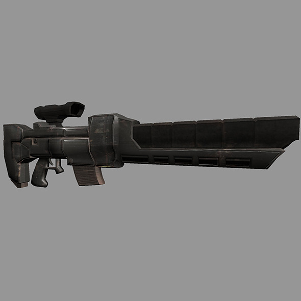 Sci-Fi Gun #3 - 3DOcean Item for Sale