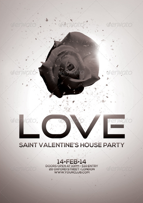 a5 saint valentine u0026 39 s house party flyer 4 in 1 by vasaki