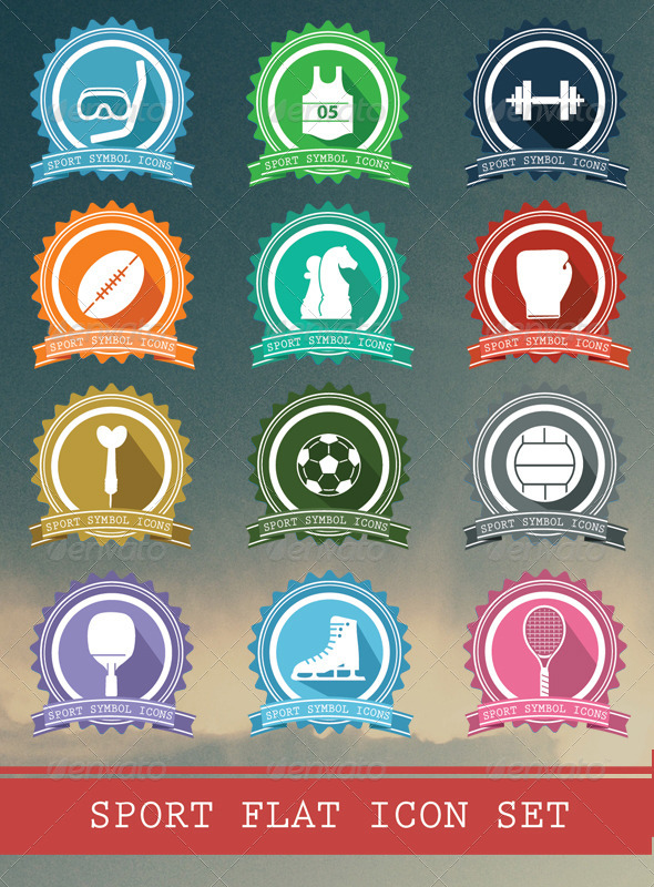 Sport Badges Icons - Seasonal Icons