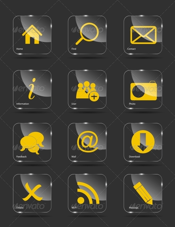 Icon Set for Web - Web Technology