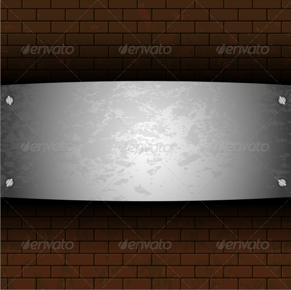 Steel Plate on Brick - Miscellaneous Vectors