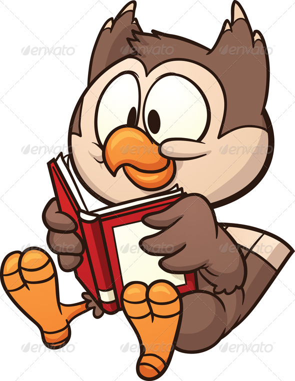 Reading Owl - Animals Characters