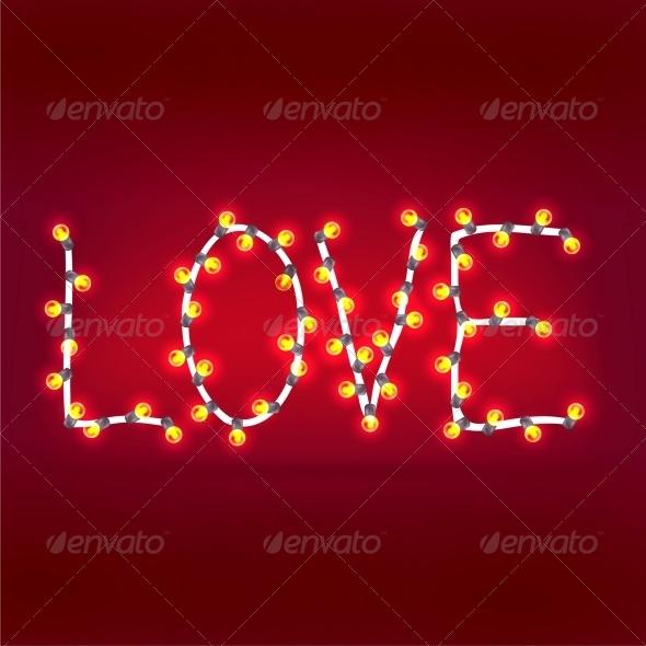 Word Love Garlands - Valentines Seasons/Holidays