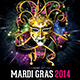 Mardi Gras 2014 Flyer Template - GraphicRiver Item for Sale