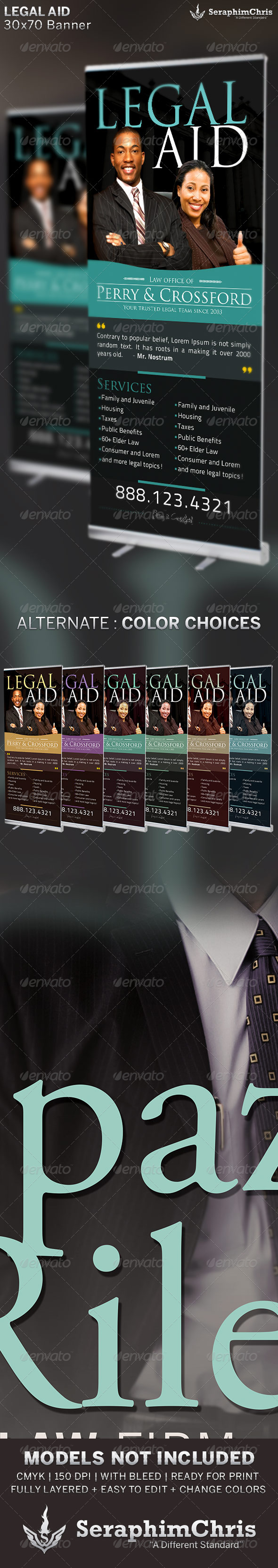 Legal Aid: Banner Template - Signage Print Templates