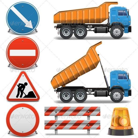 Road Construction Icons Set 2 - Industries Business
