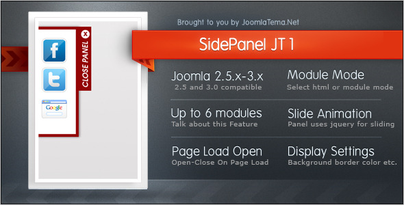Side Panel JT1 Module for Joomla - CodeCanyon Item for Sale