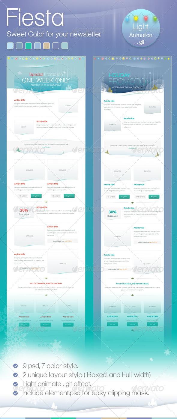 Fiesta Mail - E-newsletters Web Elements