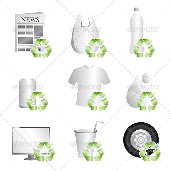 Recycle - Objects Vectors