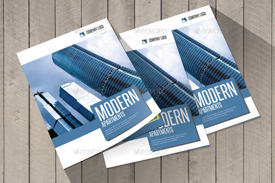 Modern Construction Bifold Brochure Template By Braxas GraphicRiver - Apartment brochure templates
