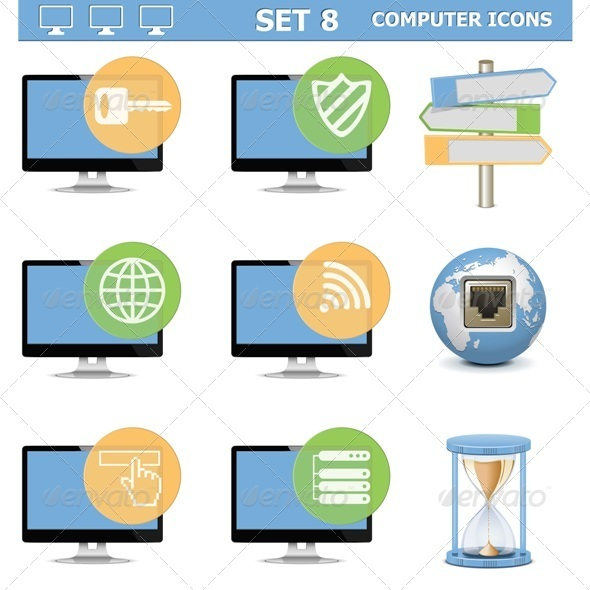 Computer Icons Set 8 - Computers Technology