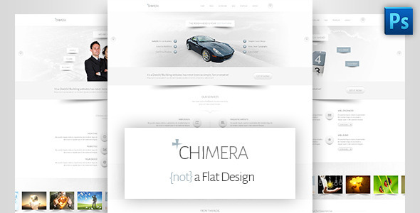 Chimera – A Bright, Light PSD Template