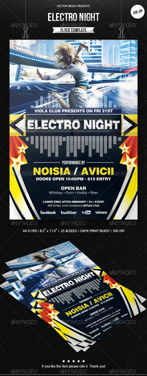 Electro Night - Flyer [Vol.5] - Clubs & Parties Events