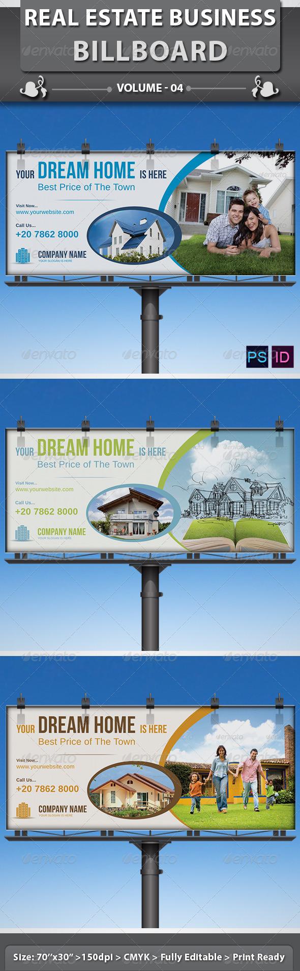 Real Estate Business Billboard | Volume 4 - Signage Print Templates
