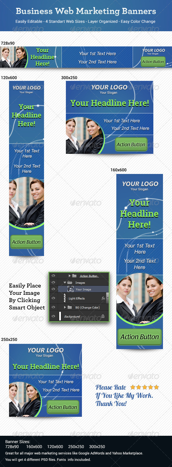 Business Web Marketing Banners - Banners & Ads Web Elements