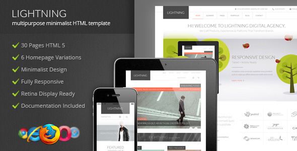 Lightning – Multipurpose Minimalist HTML Template