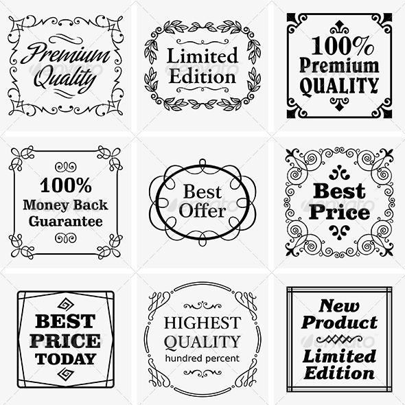 Vintage Badges - Decorative Symbols Decorative