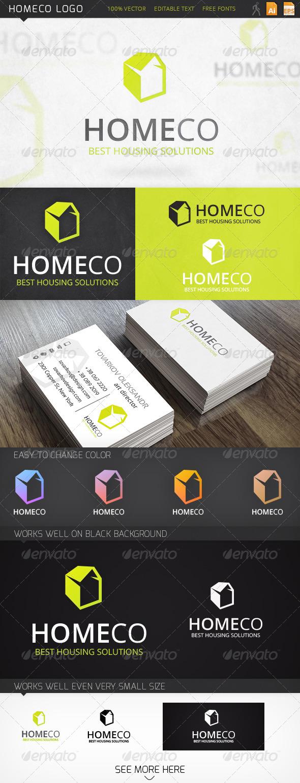 Homeco House Logo Template - Buildings Logo Templates