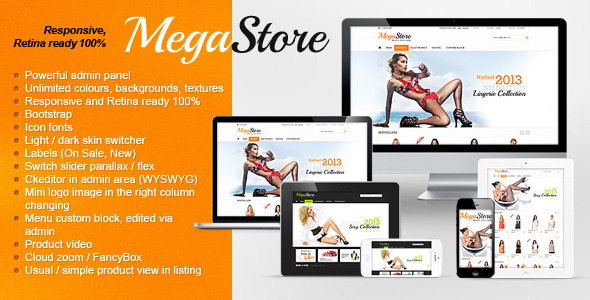 MegaStore – Responsive, Retina, Powerful Settings