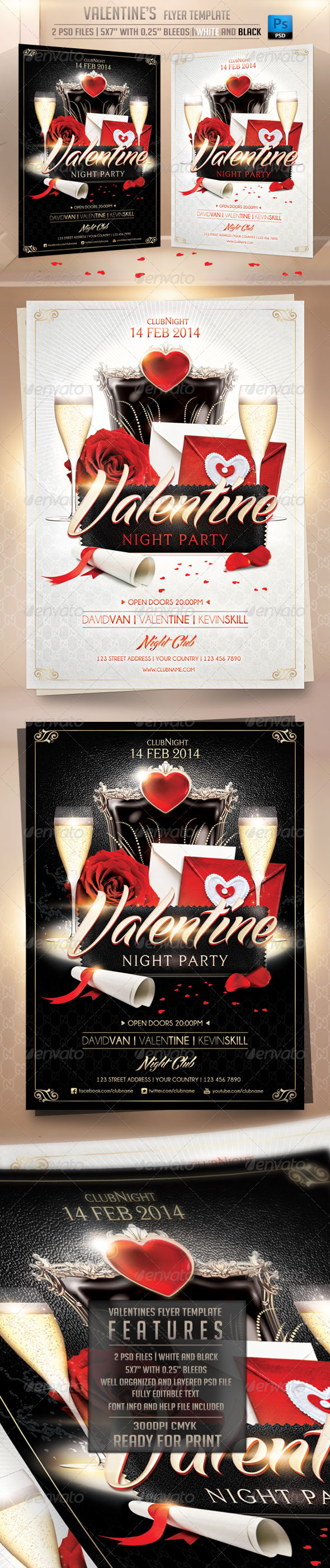Valentines Flyer Template - Flyers Print Templates