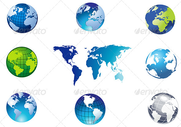 Globe Collecton - Miscellaneous Vectors