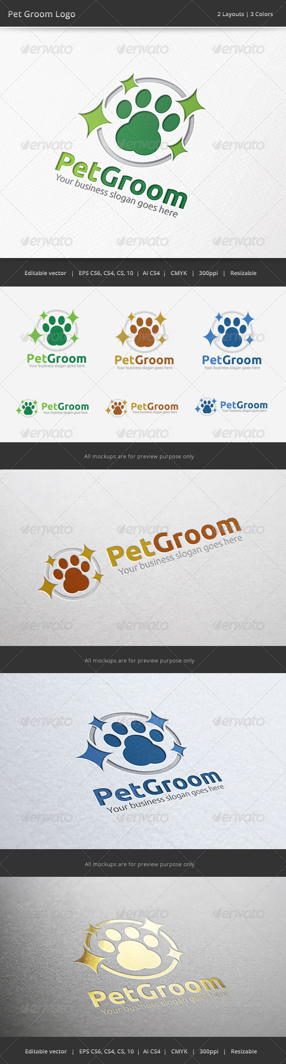 Pet Groom Logo - Animals Logo Templates