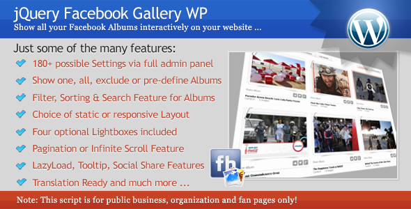 jQuery Facebook Gallery WP - CodeCanyon Item for Sale