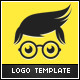 Geek Boy Logo Template - GraphicRiver Item for Sale