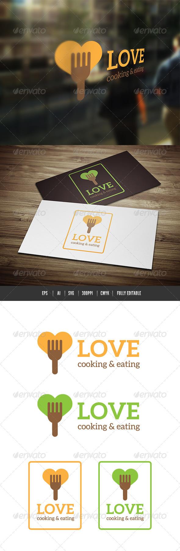 Love Food Cooking  - Food Logo Templates