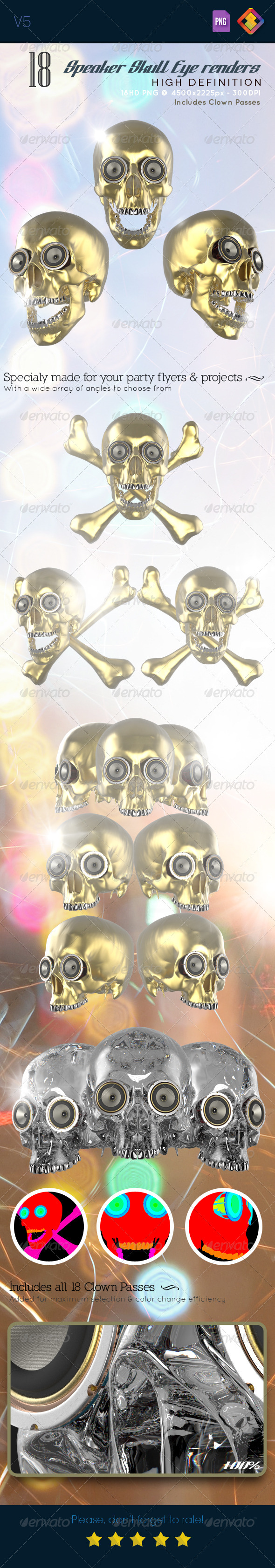 Skull Speaker Eye Renders V5 - Technology 3D Renders
