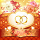 Two Wedding Rings with Hearts  - GraphicRiver Item for Sale