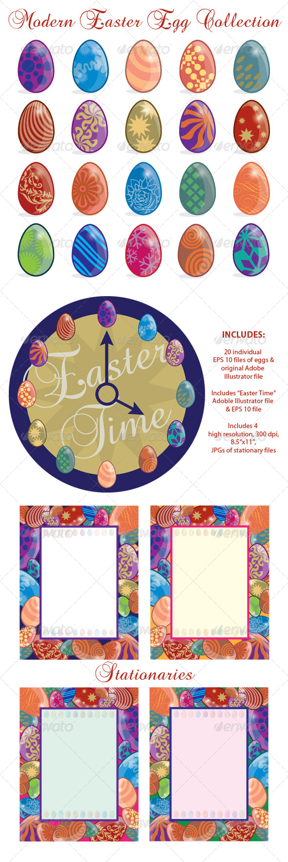 Modern Easter Egg Collection - Miscellaneous Seasons/Holidays