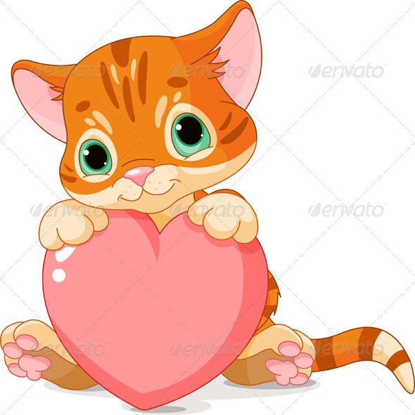 Valentines Day Kitten - Valentines Seasons/Holidays