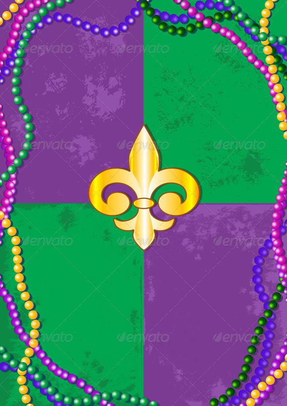 Mardi Gras Background  - Seasons/Holidays Conceptual