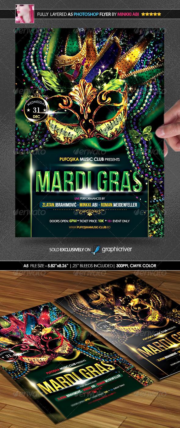 Mardi Gras Poster/Flyer - Flyers Print Templates